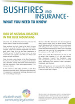 Risk of natural disasters in the Blue Mountains