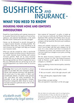 Bushfires and Insurance 1